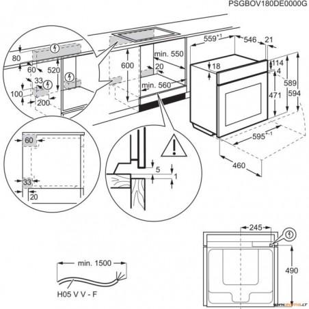 Orkaitė ELECTROLUX EZB5430ANX
